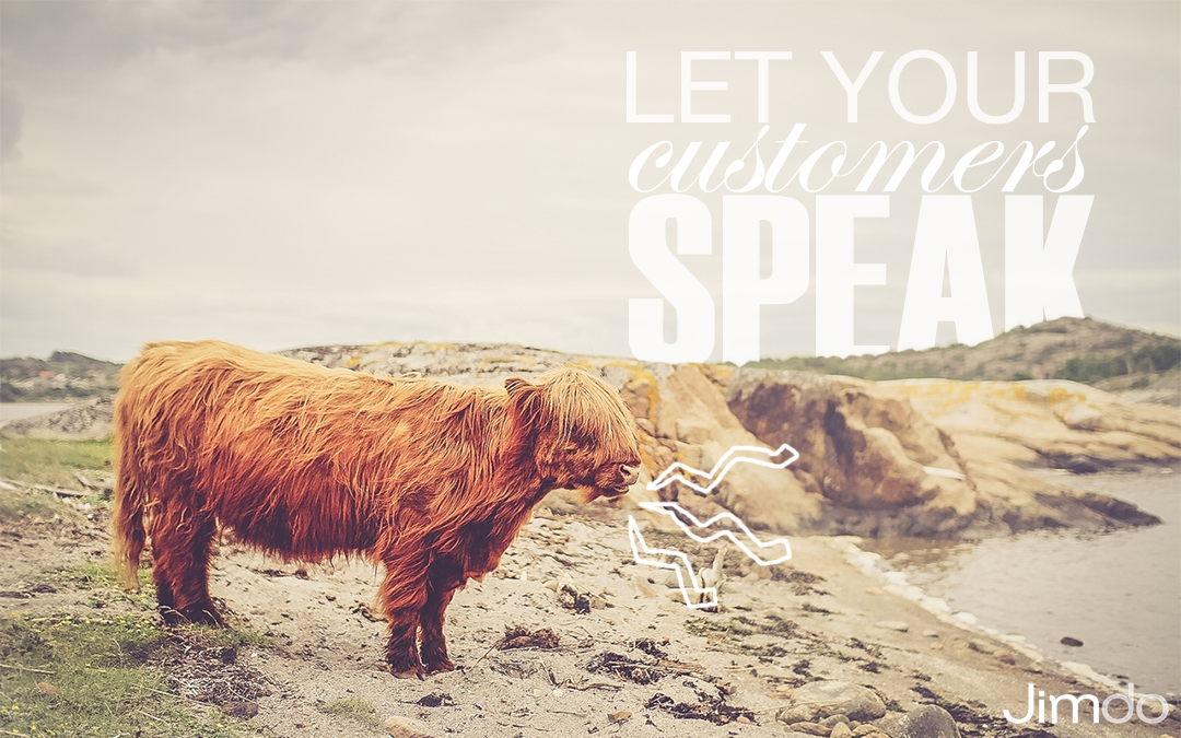 Let your customers speak