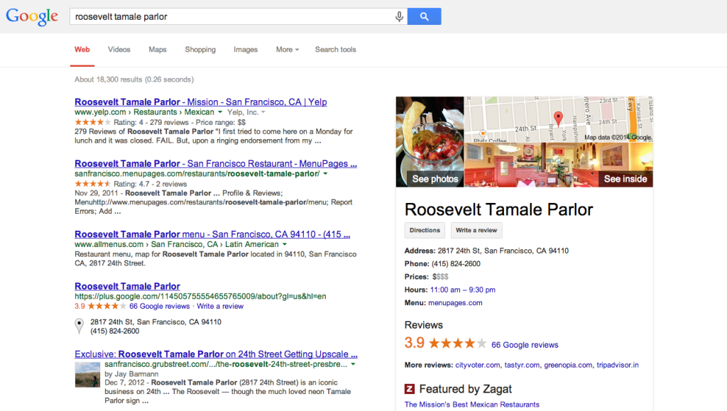 Google Places and the Knowledge Graph