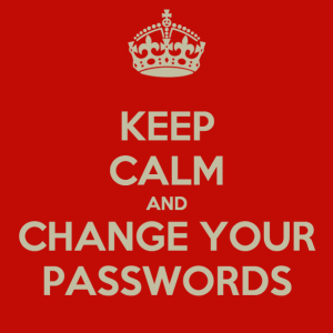 Keep calm and change your passwords