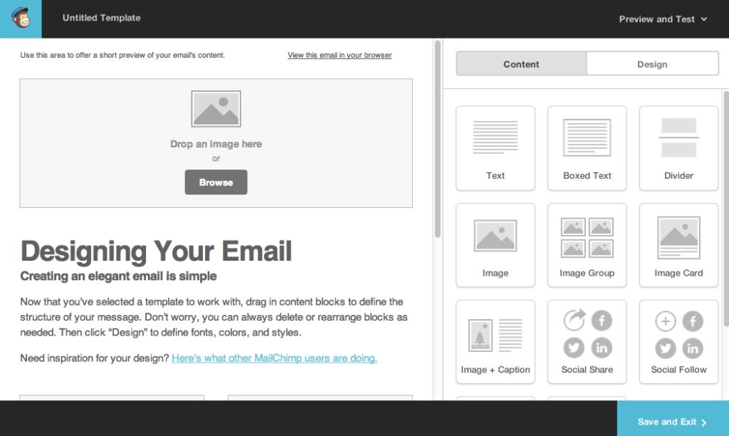 mailchimp template designer