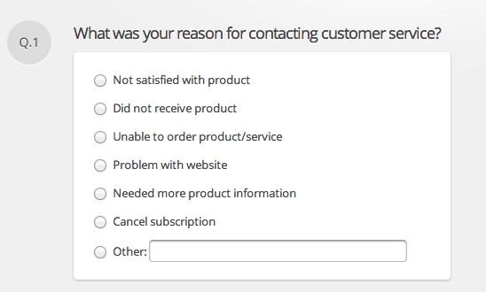 close-ended survey question