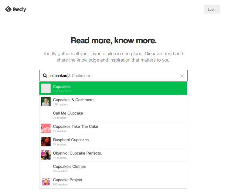 Feedly helps you find relevant content to share with your followers on Twitter.