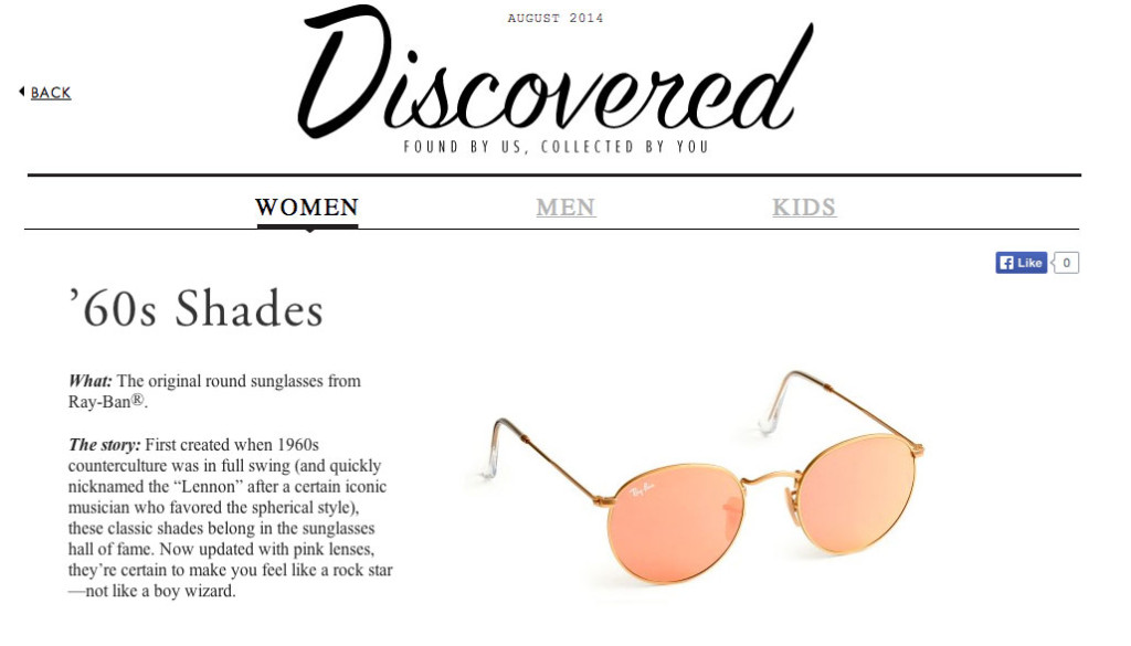 J. Crew tells a story with their products.