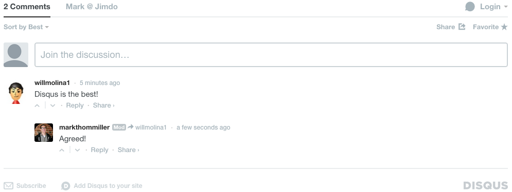 Disqus is a great commenting widget for your site