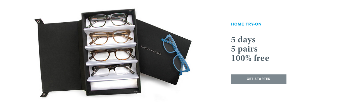 The third section of the Warby Parker homepage.