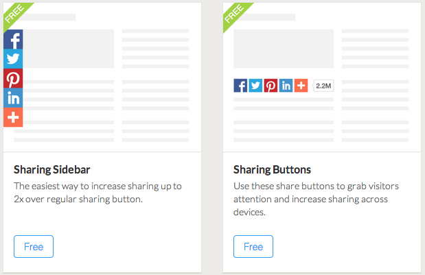 Sharing buttons from AddThis