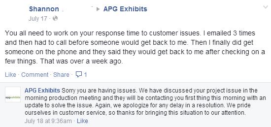 APG customer service
