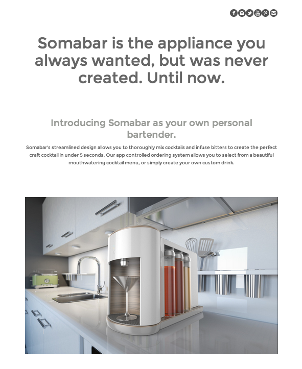 The founders of Somabar built a JimdoBusiness website to help support their Kickstarter project. Their campaign starts today, so be sure to check them out!