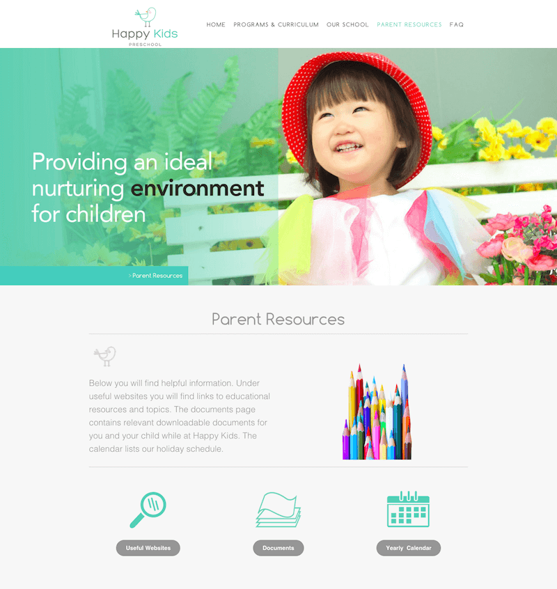 web design minimal text on website