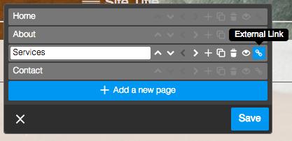 How to add an external link
