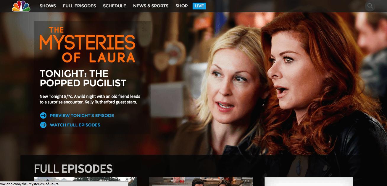 NBCs website today