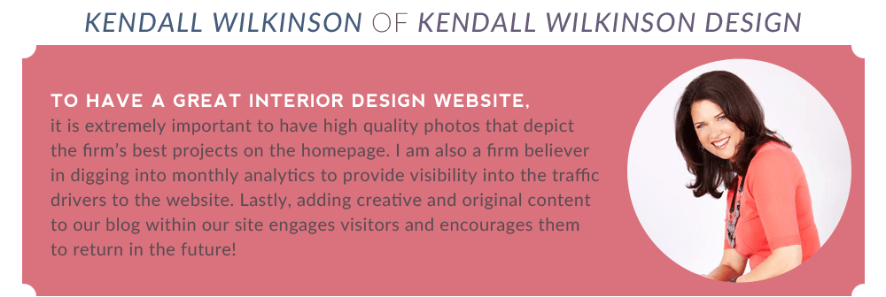 "Kendall Wilkinson: ""It's extremely important to have high quality photos."""
