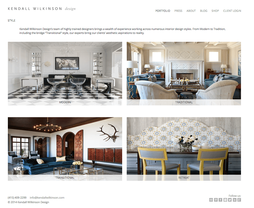 design for fashion and interior design on website interior design - Interior Design Portfolio Ideas