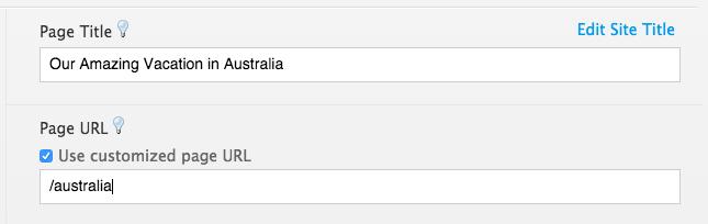 Custom URL example