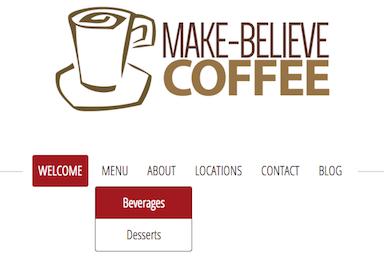 example of drop down menu