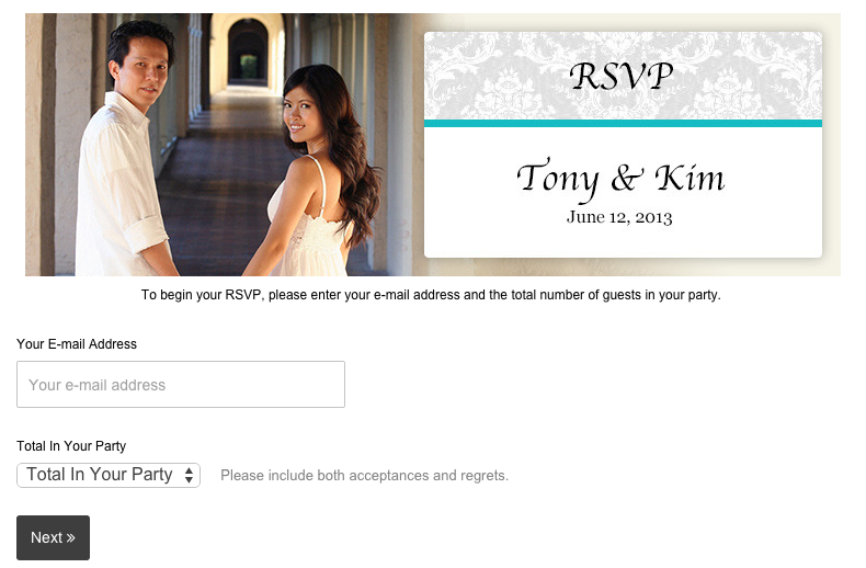 This is a RSVP widget to make it easier for guest to RSVP to your wedding online