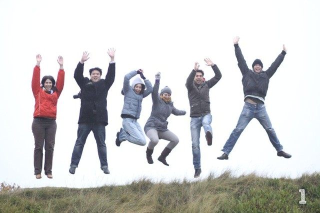 team at sprint Rømø, Denmark, 2009.