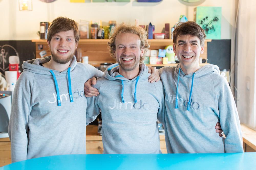 Jimdo's founders Christian Springub, Fridtjof Detzner, and Matthias Henze.