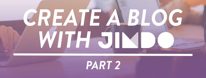 Create a Blog with Jimdo Part 2