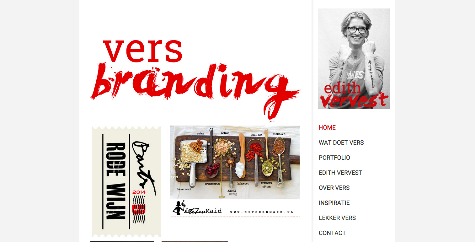 Brand designer and (food) photo stylist Edith Vervest uses the Dublin template for her site.