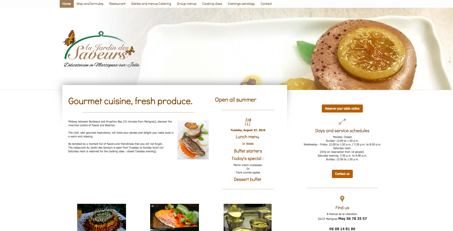 This is an example of a Jimdo website using the Amsterdam template.