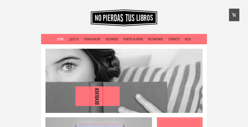Jimdo website using Barcelona template