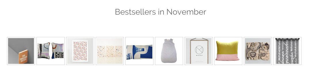 This shows the bestseller section of an online shop