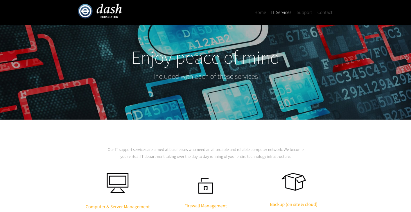 Example of website created with 99designs