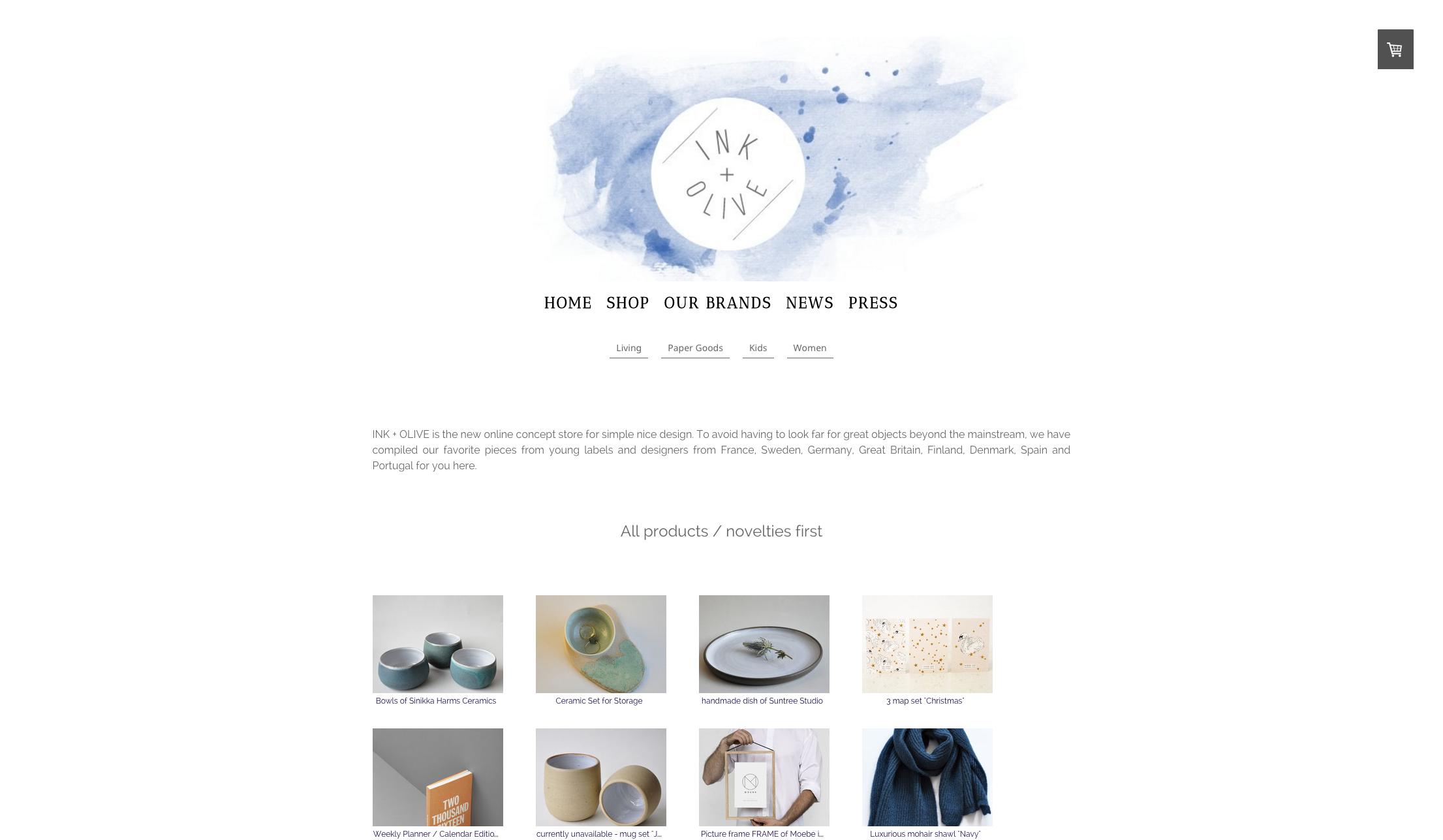 Jimdo website using Zurich template