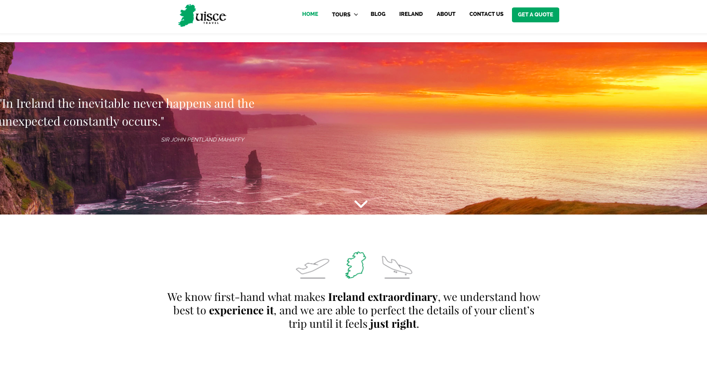 Example of a website created with 99designs