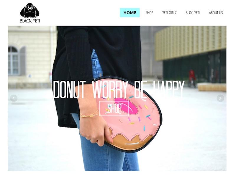 Product Photos on Black Yeti website