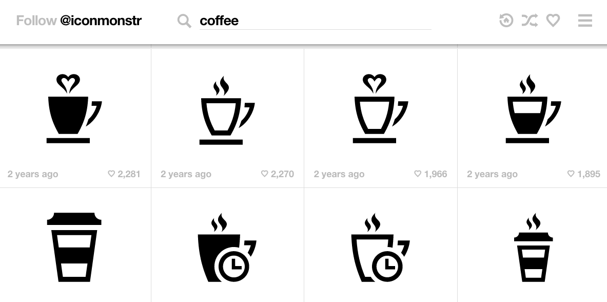 Here is an example of icons from the site Iconmonstr that you can add to your site.