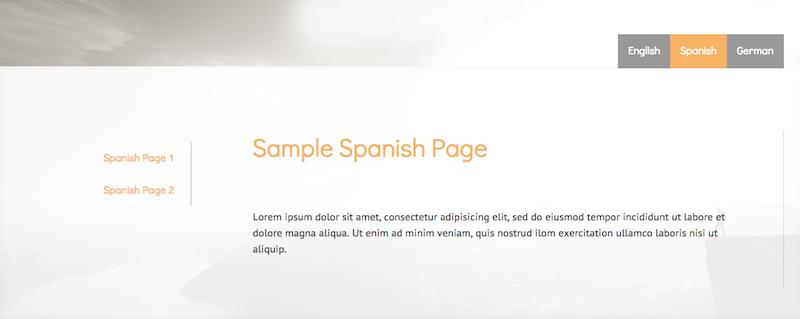 sample multilingual Jimdo website