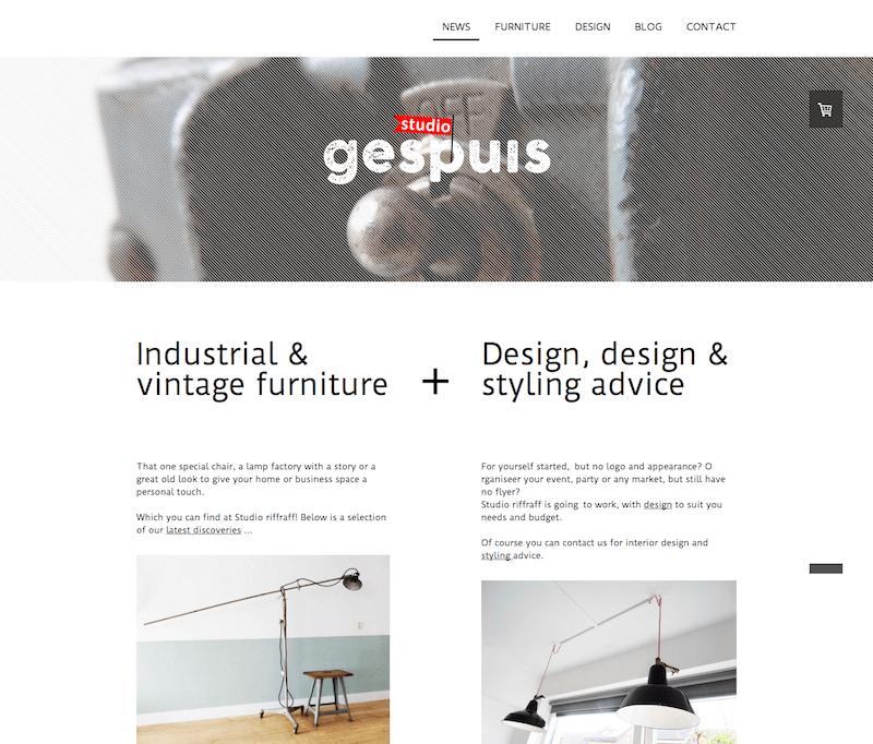 Jimdo website using MIami template